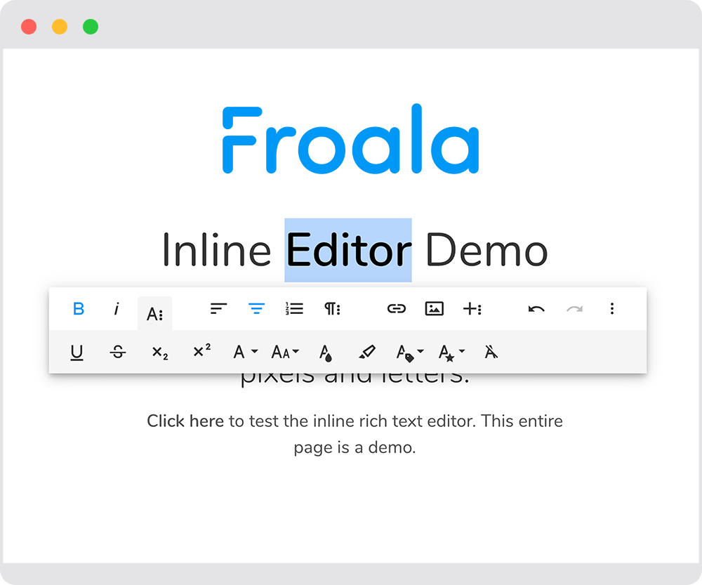 Inline editor