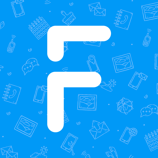 Froala and their letter F logo in bold against a collage background of images and devices.