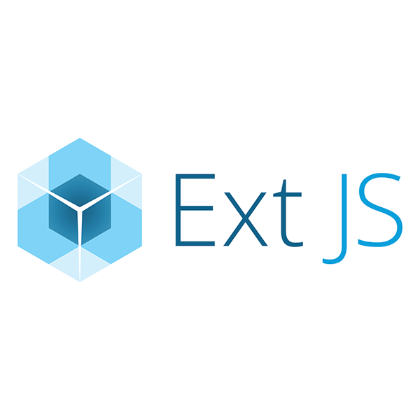 The Ext JavaScript logo in blue text with its logo to its left.