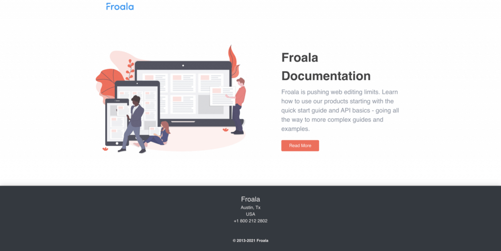 Read Froala Documentation-Call to Action Page