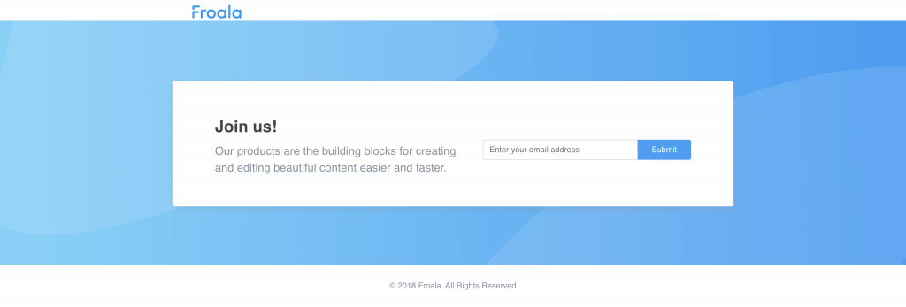 Bulid an OTP login page with Froala Design Blocks Builder tool