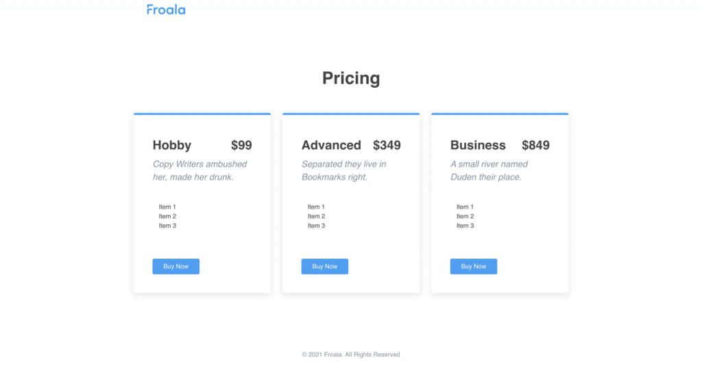 Build pages that show off your pricie plans