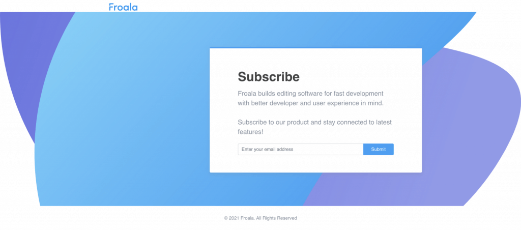 Simple Subscription Form in Bootstrap