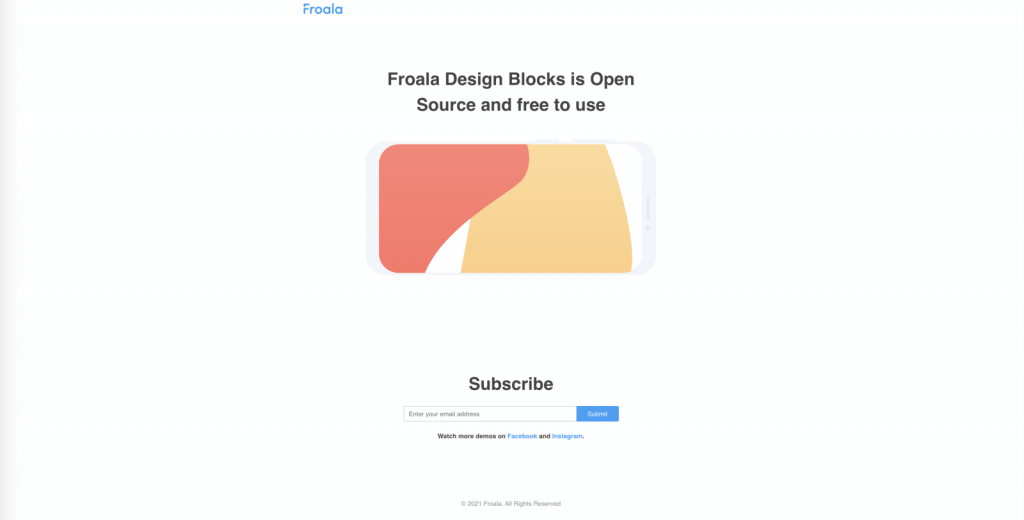 Subscribe Form with Product Demo