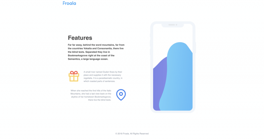 a simple prototype-look-alike feature page