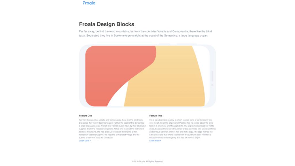 descriptive feature explanation page