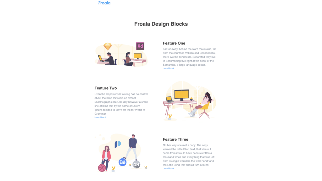 graphics-oriented features page